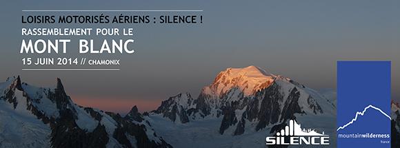 Silence, rassemblement pour le Mont-Blanc